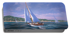 Sailing On Monterey Bay Portable Battery Charger