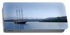 Sailing Ship In The Adriatic Islands Portable Battery Charger
