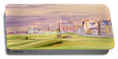 Saint Andrews Golf Course Scotland - 17th Green Portable Battery Charger by Bill Holkham