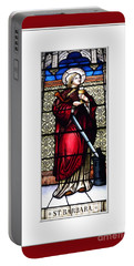 Saint Barbara Stained Glass Window Portable Battery Charger