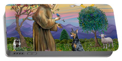 Saint Francis And Doberman Pinscher Portable Battery Charger