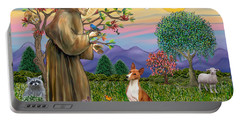 Saint Francis Blesses A Basenji Portable Battery Charger