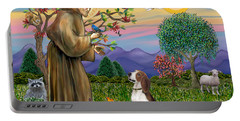 Saint Francis Blesses A Beagle Portable Battery Charger