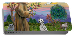 Saint Francis Blesses A Dalmatian Portable Battery Charger