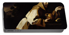 Saint Francis In Meditation Portable Battery Charger