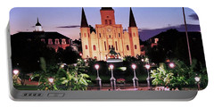 Saint Louis Cathedral New Orleans Portable Battery Charger by Allen Beatty