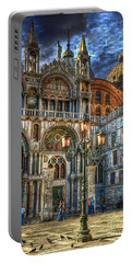 Portable Battery Charger featuring the photograph Saint Marks Square by Jerry Fornarotto