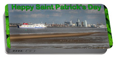 Saint Patrick's Greeting Across The Mersey Portable Battery Charger