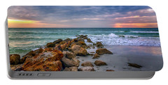 Saint Pete Beach Stormy Sunset Portable Battery Charger