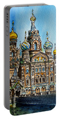 Saint Petersburg Russia The Church Of Our Savior On The Spilled Blood Portable Battery Charger