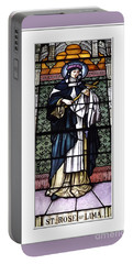 Saint Rose Of Lima Stained Glass Window Portable Battery Charger