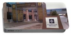 Saints - Champions Square - New Orleans La Portable Battery Charger