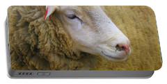 Portable Battery Charger featuring the photograph Sallie Sheep - A Portrait by Dora Sofia Caputo Photographic Art and Design