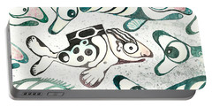 Salmon Boy The Swimmer Portable Battery Charger