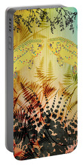Salmon Love Gold Portable Battery Charger by Kim Prowse
