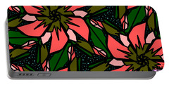Portable Battery Charger featuring the digital art Salmon-pink by Elizabeth McTaggart