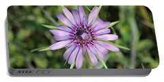 Salsify Flower Portable Battery Charger by George Atsametakis