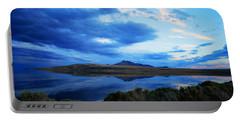 Portable Battery Charger featuring the photograph Salt Lake Antelope Island by Matt Harang