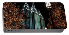 Salt Lake City Mormon Temple Christmas Lights Portable Battery Charger