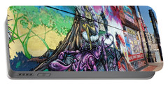 Portable Battery Charger featuring the photograph Salt Lake City - Mural 3 by Ely Arsha