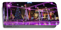 Portable Battery Charger featuring the photograph Salt Lake City - Skating Rink - 2 by Ely Arsha
