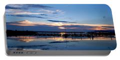 Portable Battery Charger featuring the photograph Salt Lake Marina Sunset by Matt Harang