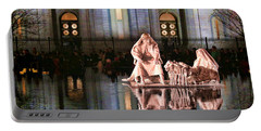 Portable Battery Charger featuring the photograph Salt Lake Temple - 2 by Ely Arsha