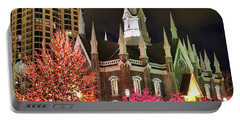Portable Battery Charger featuring the photograph Salt Lake Temple - 3 by Ely Arsha