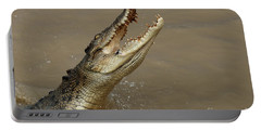 Salt Water Crocodile Australia Portable Battery Charger by Bob Christopher