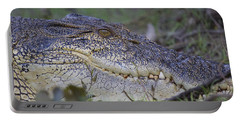 Saltwater Crocodile Portable Battery Charger by Venetia Featherstone-Witty