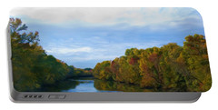 Saluda River In The Fall Portable Battery Charger