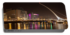 Samuel Beckett Bridge In Dublin City Portable Battery Charger by Semmick Photo