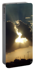 Portable Battery Charger featuring the photograph San Antonio Sunset by Peter Piatt