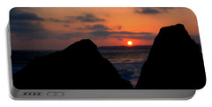 Portable Battery Charger featuring the photograph San Clemente Rocks Sunset by Matt Harang