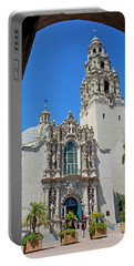 San Diego Museum Of Man Portable Battery Charger by Claudia Ellis