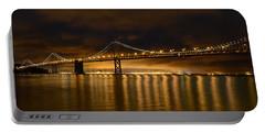 San Francisco - Bay Bridge At Night Portable Battery Charger