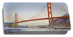 San Francisco California Golden Gate Bridge Portable Battery Charger