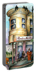 San Francisco North Beach - Watercolor Art Painting Portable Battery Charger