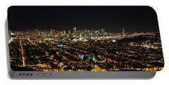 San Francisco Skyline Portable Battery Charger by Dave Files