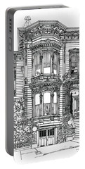 San Francisco Victorian   Portable Battery Charger by Ira Shander