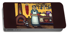 San Pascual Making Biscochitos Portable Battery Charger