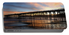 Portable Battery Charger featuring the photograph San Simeon Pier by Vivian Christopher