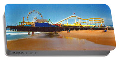 Portable Battery Charger featuring the photograph Sana Monica Pier by Daniel Thompson