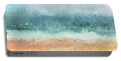 Sand And Sea Portable Battery Charger by Linda Woods