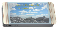 Sand Dolphins - Digitally Framed Portable Battery Charger