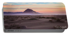 Sand Dunes At Sunset At Morro Bay Beach Shoreline  Portable Battery Charger