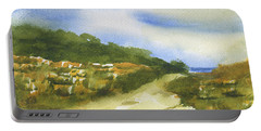 Sand Dunes On Hilton Head Island Portable Battery Charger by Frank Bright