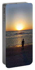 Portable Battery Charger featuring the photograph Sand Key Sunset by David Nicholls