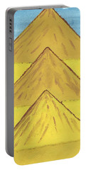 Portable Battery Charger featuring the painting Sand Mountains by Tracey Williams