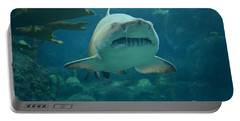 Portable Battery Charger featuring the photograph Sand Shark by Robert Meanor